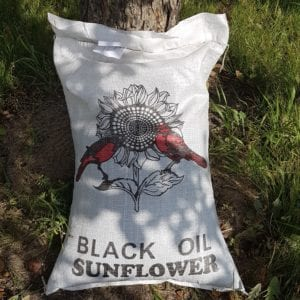 25 lb bag of Black Oil Sunflower Seeds