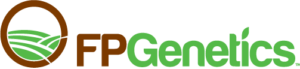 FP Genetics Logo in green and brown